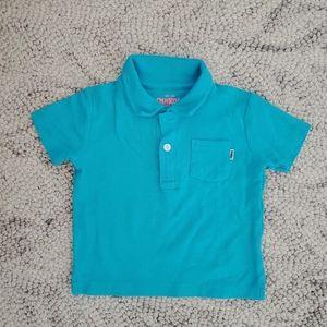 Oshkosh Blue Polo Shirt Size 18 Months